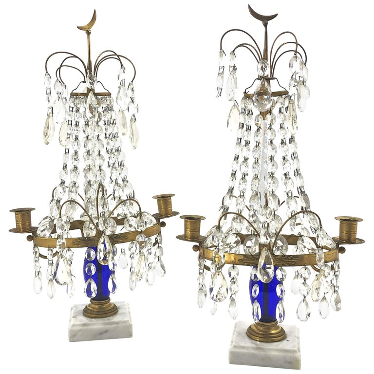 Pair of Baltic Candleabra For Sale