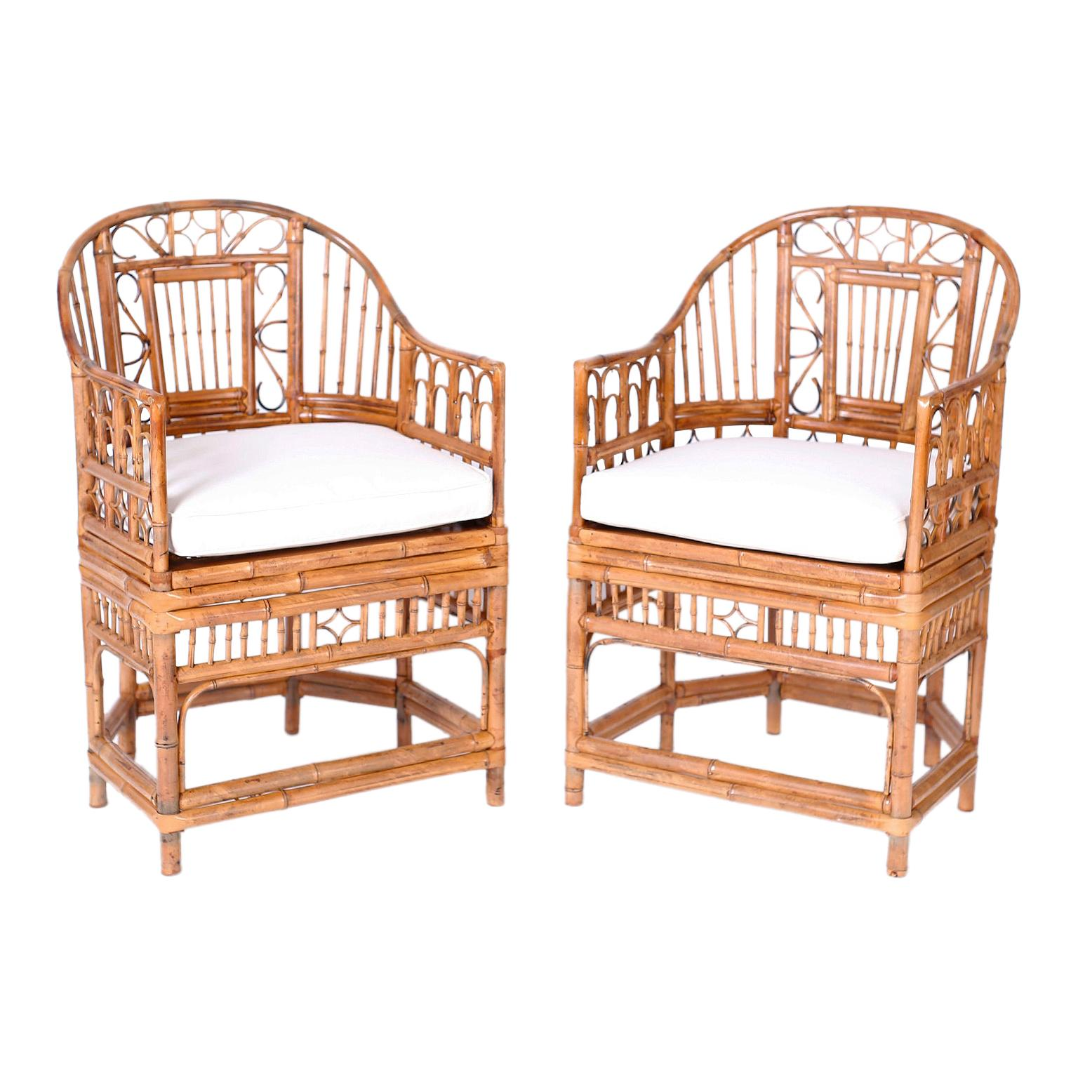Pair of Bamboo Brighton Pavilion Chairs