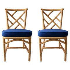 Pair of Bamboo Side Chairs