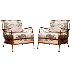 "Pair of ""Bamboo"" Style Armchairs"