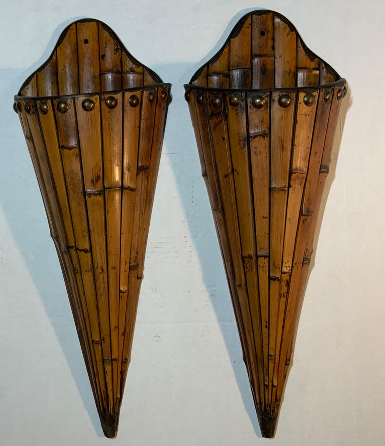 Pair of Bamboo Wall Hanging For Sale 6