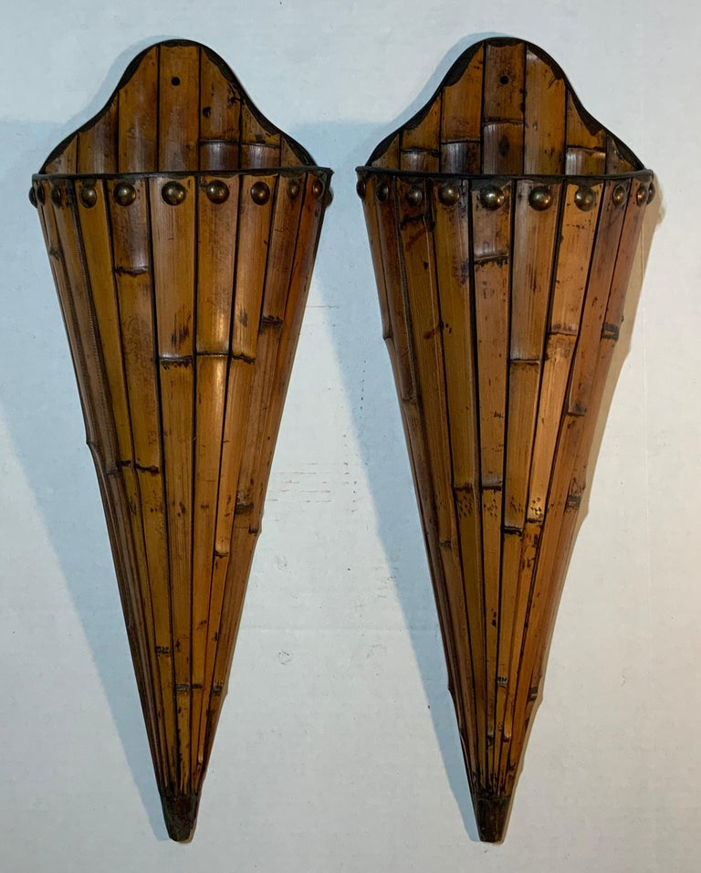 Pair of Bamboo Wall Hanging For Sale 7