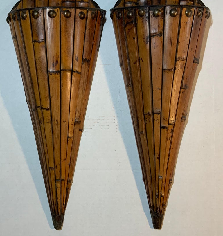 Pair of Bamboo Wall Hanging For Sale 2