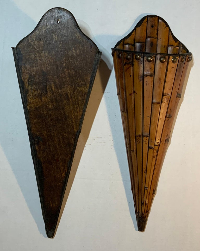 Pair of Bamboo Wall Hanging For Sale 3