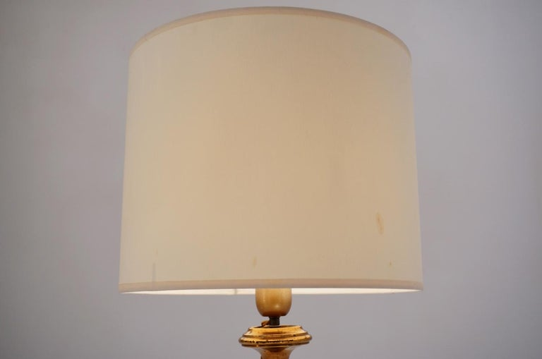 Pair of Banci Firenze Florentine Tole Gold Gilt Table Lamps, Crystal & Alabaster For Sale 6