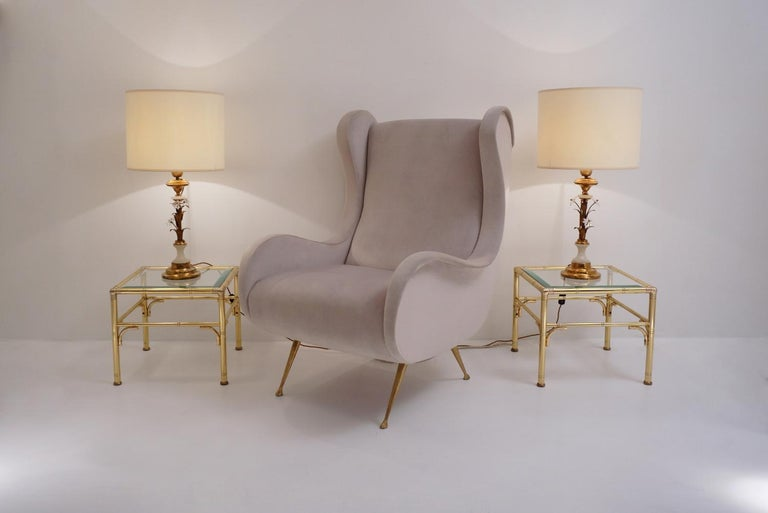 Pair of Banci Firenze Florentine Tole Gold Gilt Table Lamps, Crystal & Alabaster In Good Condition For Sale In London, GB