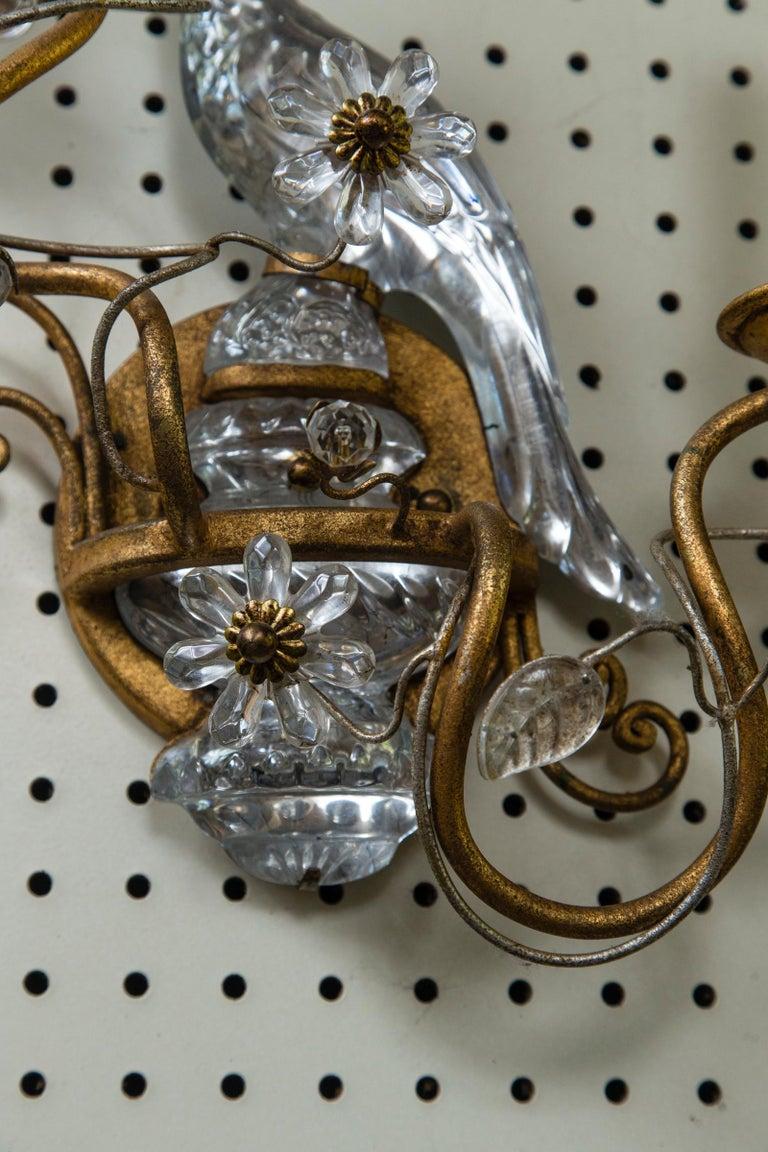 Pair of Bagues Style Parrot 2-Light Sconces For Sale 2