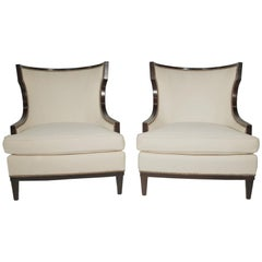 Pair of Barbara Barry Modern Style Upholstered Chairs