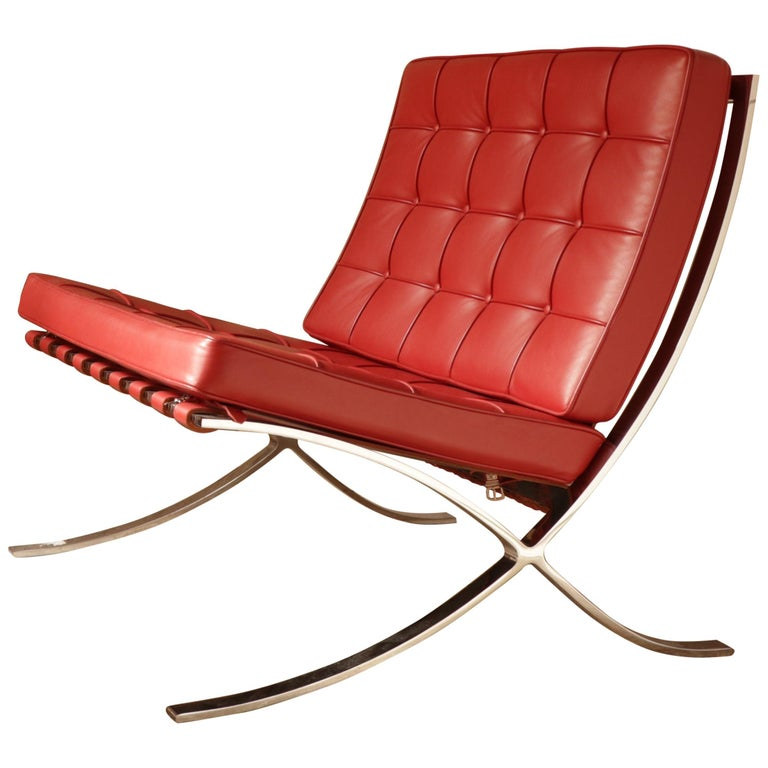 Pair of Barcelona Chairs, Ludwig Mies van der Rohe For Sale