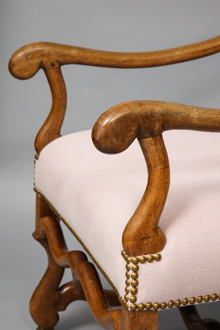 Pair of Baroque Armchairs For Sale 7