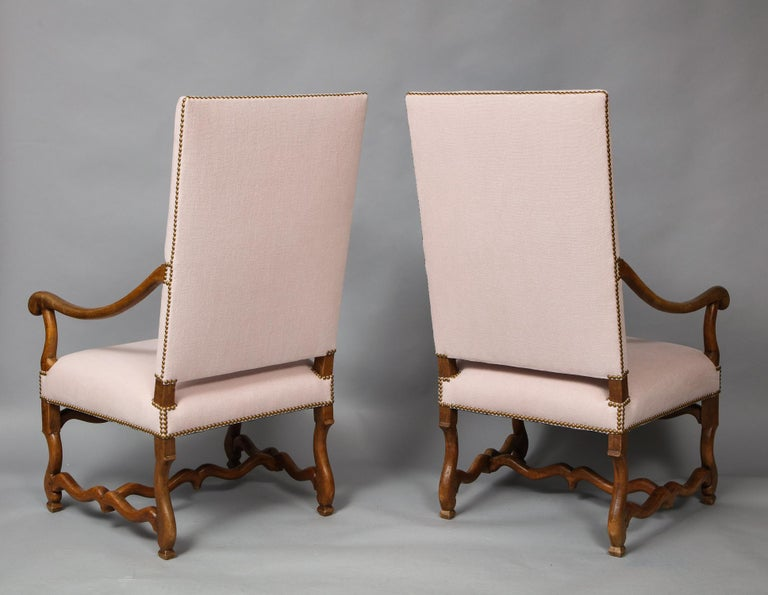 Pair of Baroque Armchairs For Sale 8