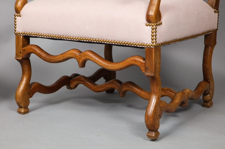 French Pair of Baroque Armchairs For Sale
