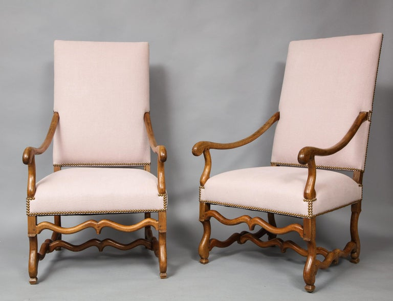 18th Century and Earlier Pair of Baroque Armchairs For Sale