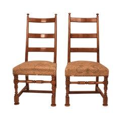 Paar barocke Seite Stühle, Ostsee, um 1720