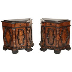 Pair of Baroque Style Inlaid Cabinets