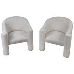 Pair of Barrel Back Club Chairs