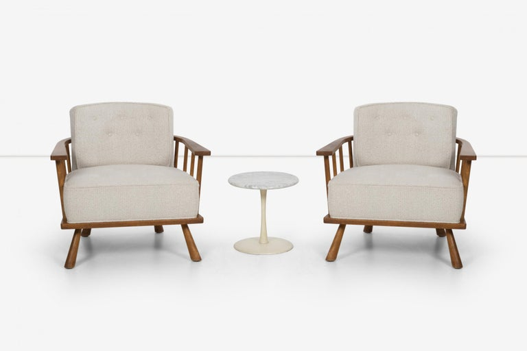 Pair of Barrel Back Lounge Chairs by Robsjohn-Gibbings 5