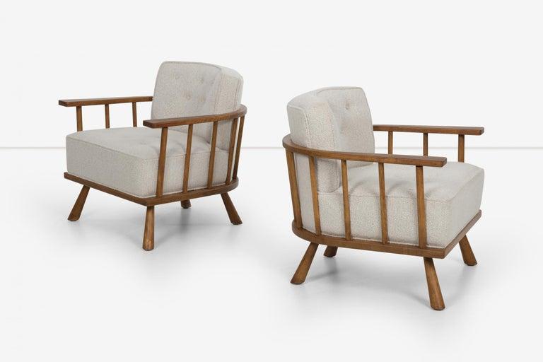 American Pair of Barrel Back Lounge Chairs by Robsjohn-Gibbings