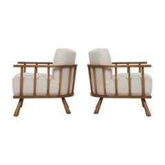 Pair of Barrel Back Lounge Chairs by Robsjohn-Gibbings