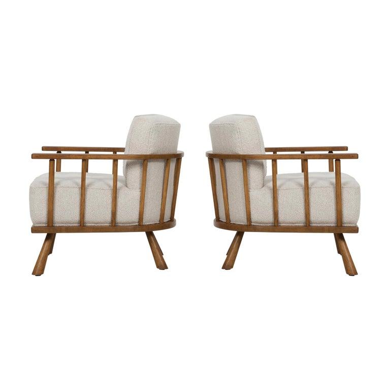 Pair of Barrel Back Lounge Chairs by Robsjohn-Gibbings