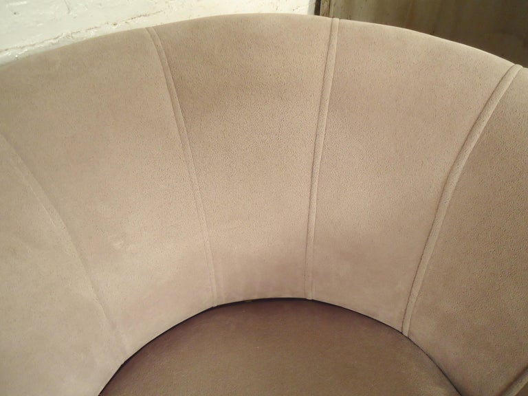 Pair of Barrel Back Swivel Chairs For Sale 1