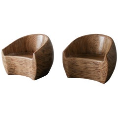 Pair of Barrel Chairs by Clayton Tugunon for Snug