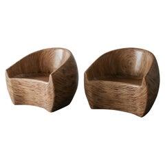 Pair of Barrel Chairs by Clayton Tugunon for Snug