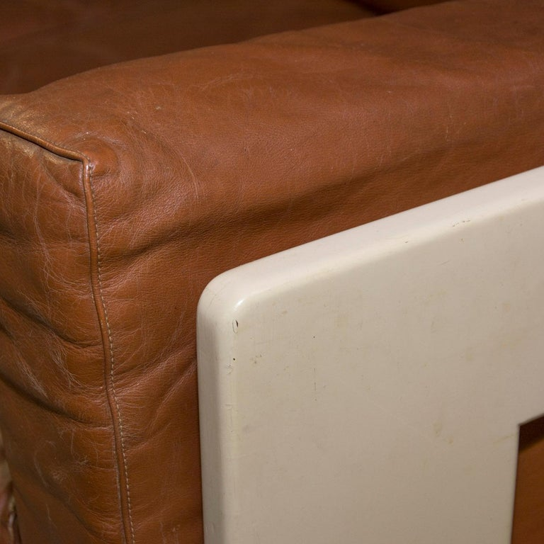 Pair of Bastiano Leather Sofas by Afra & Tobia Scarpa, 1970s For Sale 5
