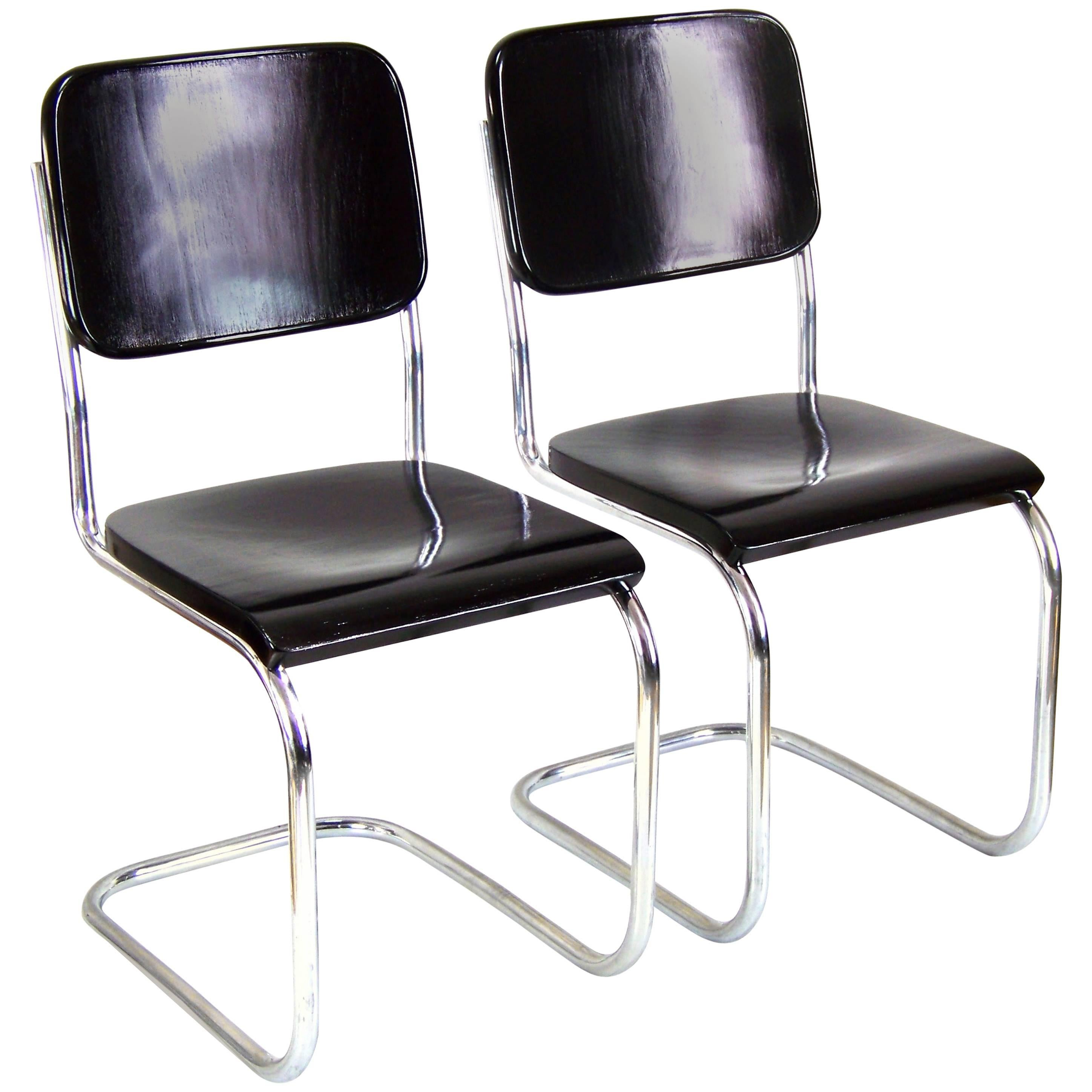 Pair Of Bauhaus Chrome Chairs By Mart Stam Circa 1930 For Sale At