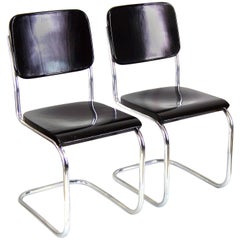 Pair of Bauhaus Chrome Chairs by Mart Stam, circa 1930