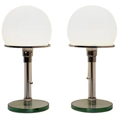 Pair of Bauhaus Lamps by William Wagenfeld and Carl Jakob Jucker