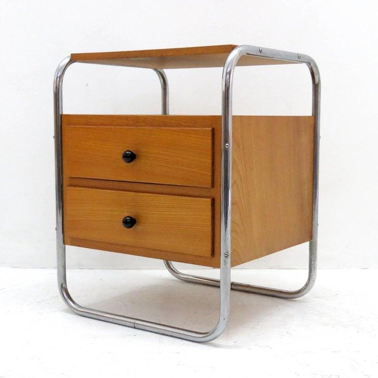 German Pair of Bauhaus Nightstands For Sale
