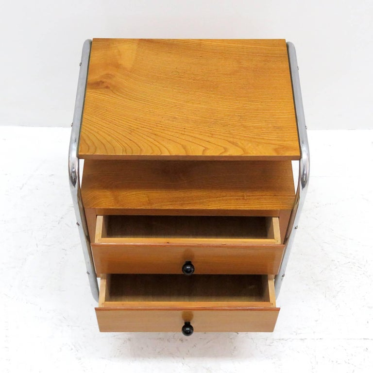 Pair of Bauhaus Nightstands In Excellent Condition For Sale In Los Angeles, CA