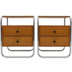 Pair of Bauhaus Nightstands