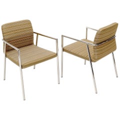 Pair of Bauhaus Style Mid-Century Modern Style Chairs by Bernhardt