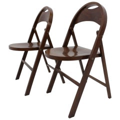 Pair of Bauhaus Thonet Folding Chairs, B 751