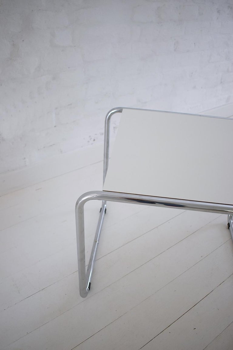 Pair of Bauhaus Tubular Side Tables after Marcel Breuer, Italy, 1990 For Sale 3