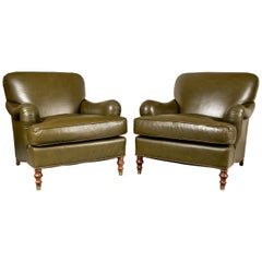 Pair of Beacon Hill Leather Club Chairs