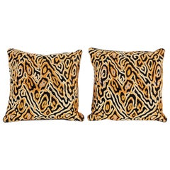 Pair of Beaded Animal Print Pillows, Priced Individually