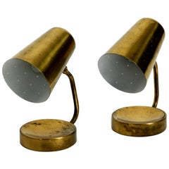 Pair of Beautiful Rare Large Midcentury Brass Table Lamps