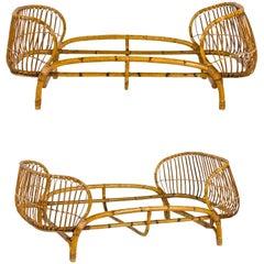 Pair of Beds, Bamboo, circa 1950, Italy
