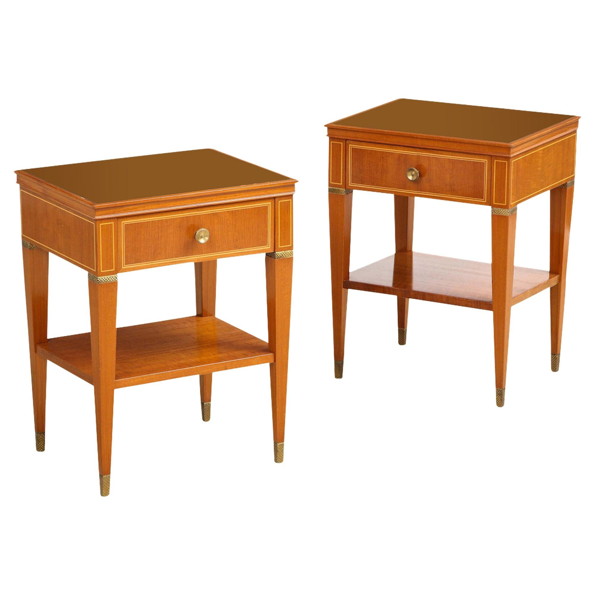 Pair of Bedside Tables by Paolo Buffa