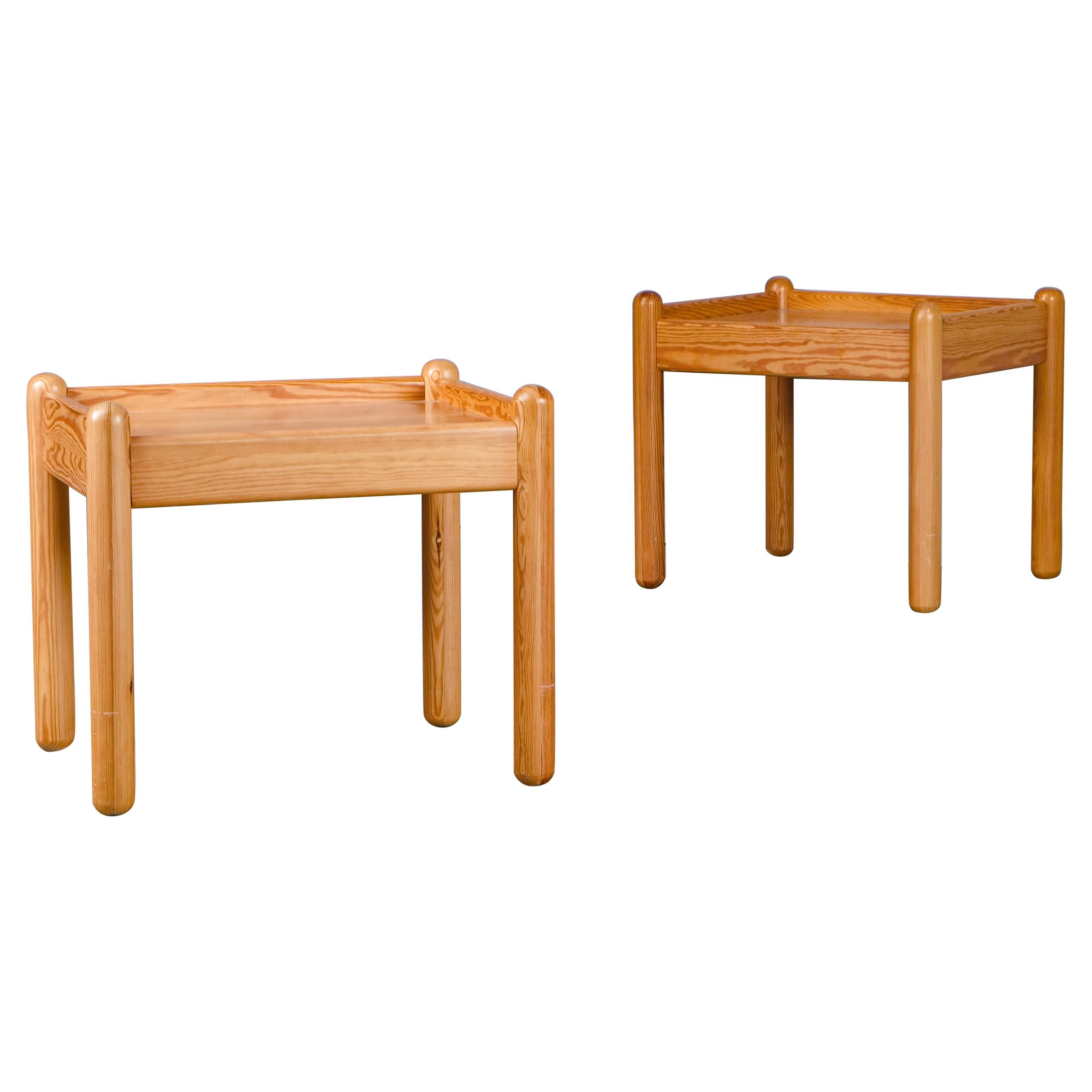 Pair of Bedside Tables, Denmark, 1970s