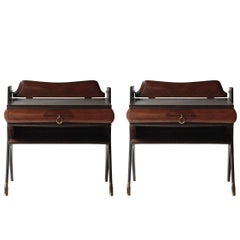 Pair of Bedside Tables in Rosewood Wood, Italy, 1950