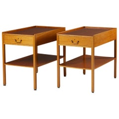 Pair of Bedside Tables Model 914 Designed by Josef Frank for Svenskt Tenn