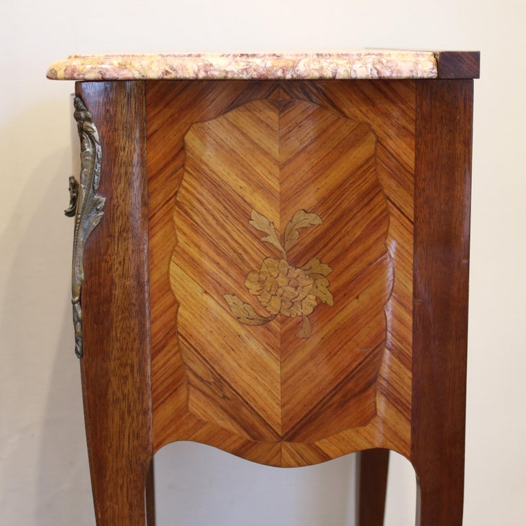 Marble Pair of Bedside Tables PBT5 For Sale