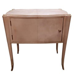 Pair of Bedside Tables, Completely Covered with Parchment from Italy, 1930