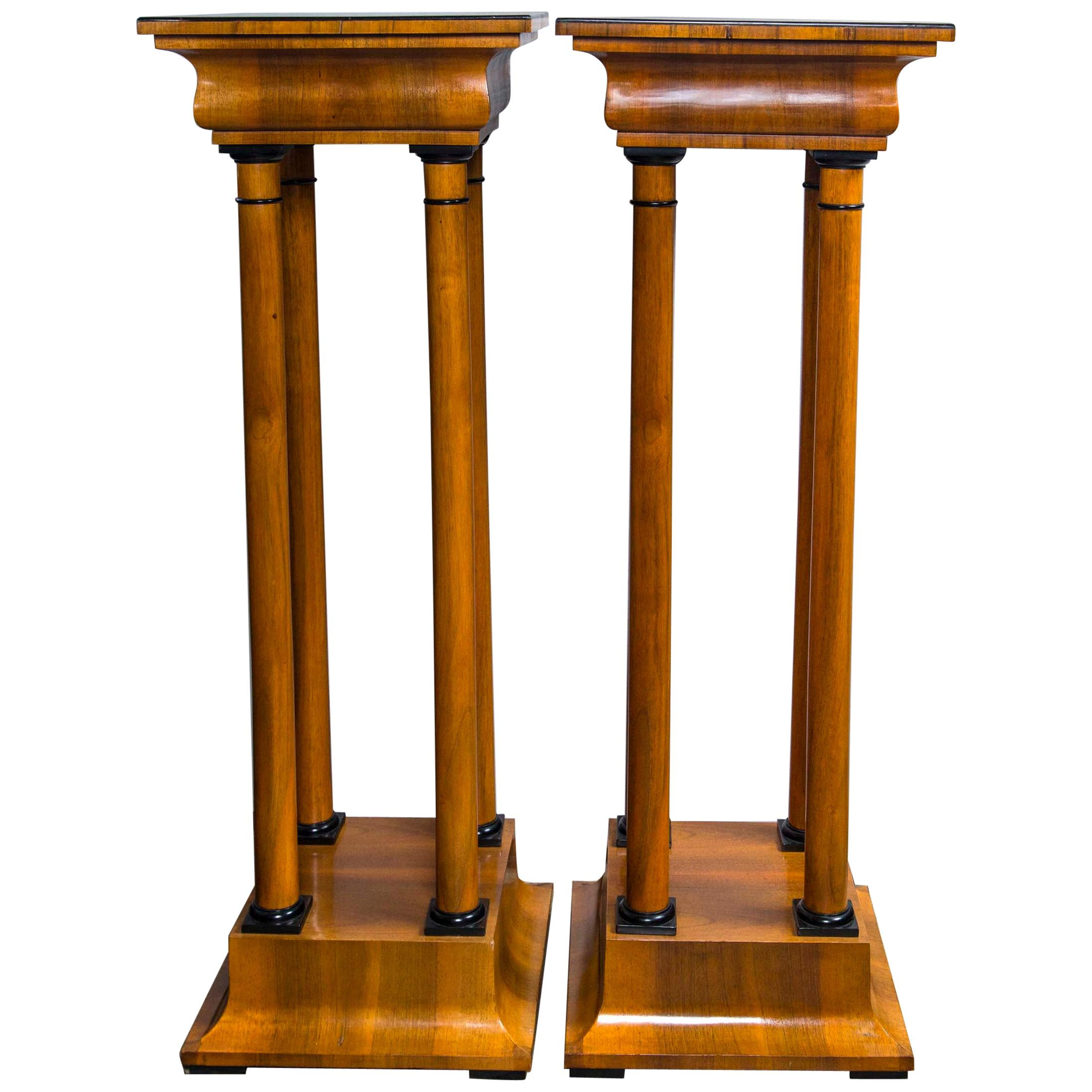 Pair of Biedermeier Style Plinths