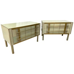 Pair of Beige 2-Drawer Dressers, circa 1970