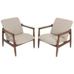 Pair of Beige Armchairs, Edmund Homa, 1960s